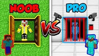 NOOB VS PRO 👮 ESCAPA DE LA PRISIÓN EN MINI WORLD