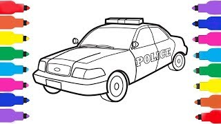 #PoliceCar for Children   Kids Truck Video   Police Vehicles    Draw education for kids