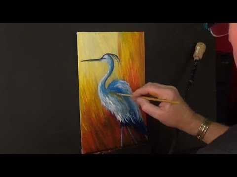 Easy, Fun, acrylic painting for beginners,Heron, #clive5art