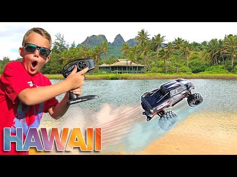 RC Car Driving On Water Hawaii Adventure!