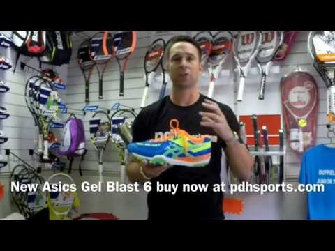 The fantastic new ASICS Gel-Blast 6: squash shoe review by PDHSports.com