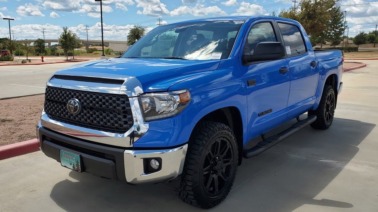 2020 Toyota Tundra Sr5 Voodoo Blue Tss Package Walk Around