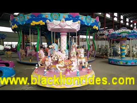 Indoor Game Equipment 9 Seats Carousel Mini Carousel Rides for Sale
