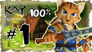 Legend of Kay Anniversary Walkthrough Part 1 • 100% (PS4, Switch, PS3, WiiU, PS2) Cat Village Pt. 1
