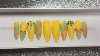 Yellow Nails | Summer Nail Design | How to Design Press On Nails