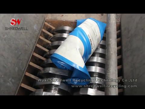 200L Oil Drums Shredder | Steel Barrels Crusher | Scrap Metal Shredding Plant
