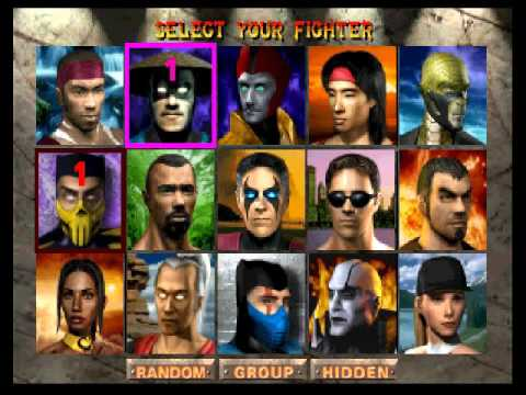 Image result for mortal kombat 4 select screen