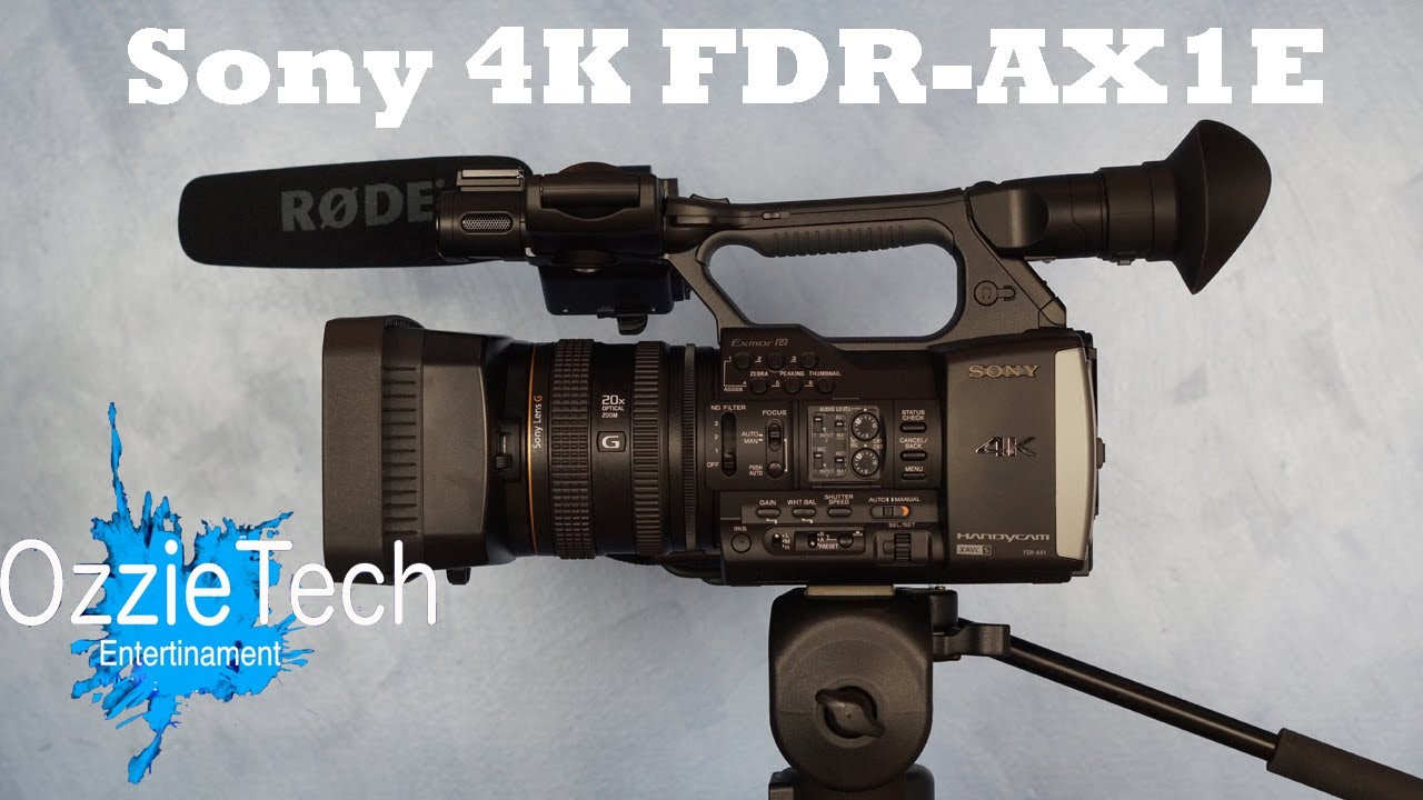 Sony FDR-AX1E Camcorder Windows 8 Drivers Download (2019)
