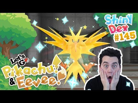 PERFECT TIMING! SHINY ZAPDOS in POKEMON LET'S GO PIKACHU and EEVEE! thumbnail