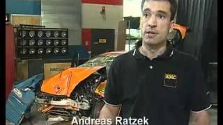 Краш тест Renault Laguna 2007 80kmph (ADAC)