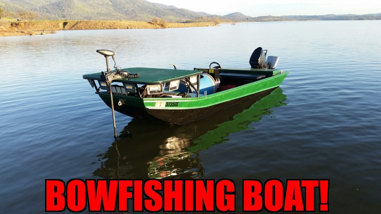 Bowfishing boat rebuild new lights and a new look youtube for Bow fishing boats