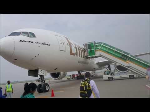 Emirates Flight EK621 Takeoff From Sialkot International Airport To Dubai International Airport.
