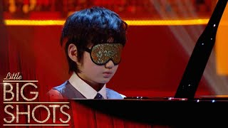 Sensational BLINDFOLDED Performance By 8 Year Old Leo | Little Big Shots
