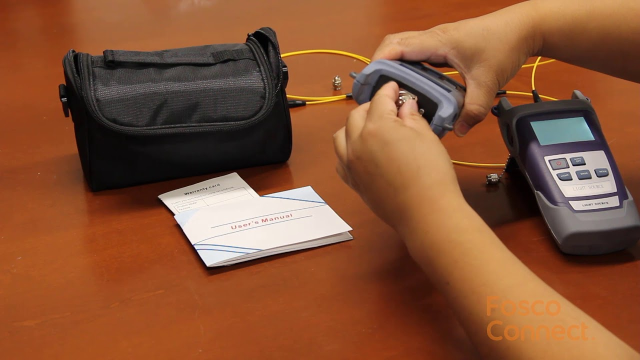 How to test a fiber patch cable using hand held optical power meter?