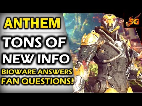 ANTHEM TONS OF NEW INFO! | BIOWARE TALKS ENDGAME, PVP/ PVE BALANCE, OPEN WORLD, ONLINE-ONLY, & MORE!