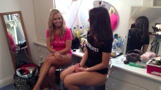 Emily J and Rachel H in the onlytease dressing room having