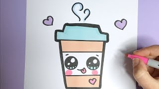 Kawaii Kaffee Getränk Malen- Kawaii Bilder Zum Nachmalen