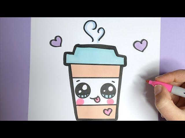 kawaii kaffee getränk malen kawaii bilder zum nachmalen