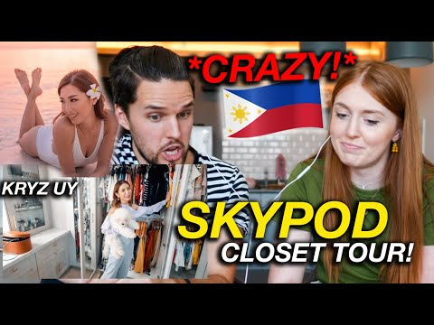Unbelievable SKYPOD in Philippines CLOSET TOUR! (INSANE Reaction)