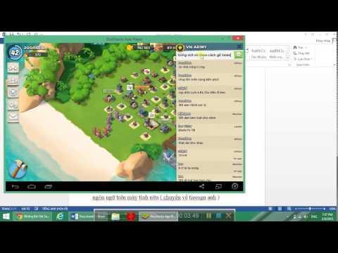 Cách gõ tiếng việt trong BlueStacks cài trên PC.