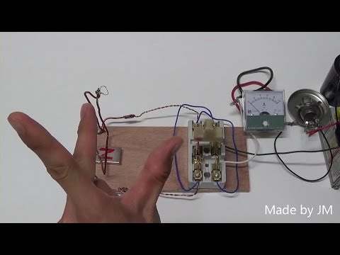 Fleming's left-hand rule experiment with DPDT switch