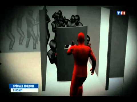 l 39 assaut en 3d dans l 39 appartement de mohamed merah youtube. Black Bedroom Furniture Sets. Home Design Ideas
