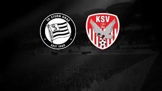 Spielaufzeichnung: Sturm Graz 2:1 KSV 1919 (1:0)