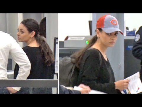 Mila Kunis Sports Cubs Cap At LAX As She Jets To Chicago To Throw First Pitch