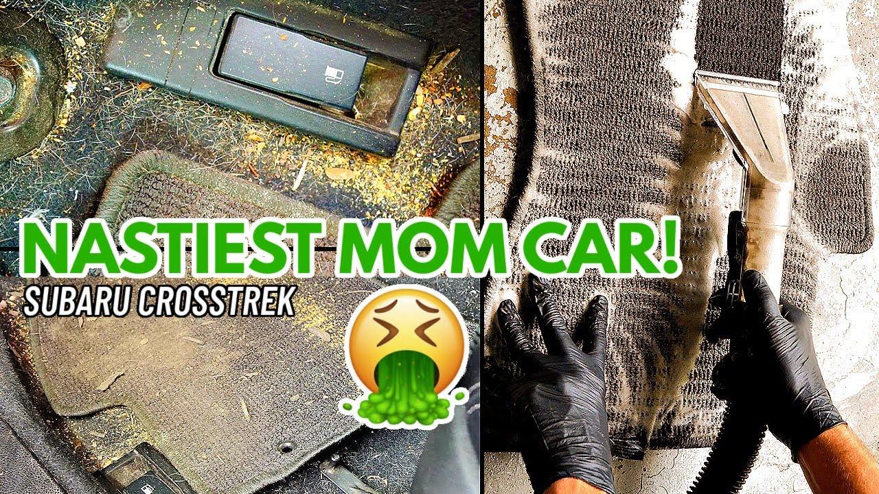 Complete Disaster Car Interior Detail Transformation! Detailing A Really Dirty Subaru Crosstrek!