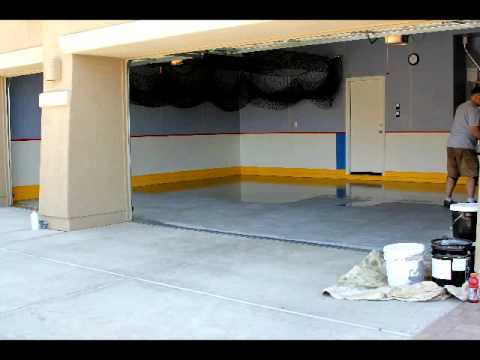 Polyaspartic Garage Floor Installation Time Lapse Video Slide Lok You