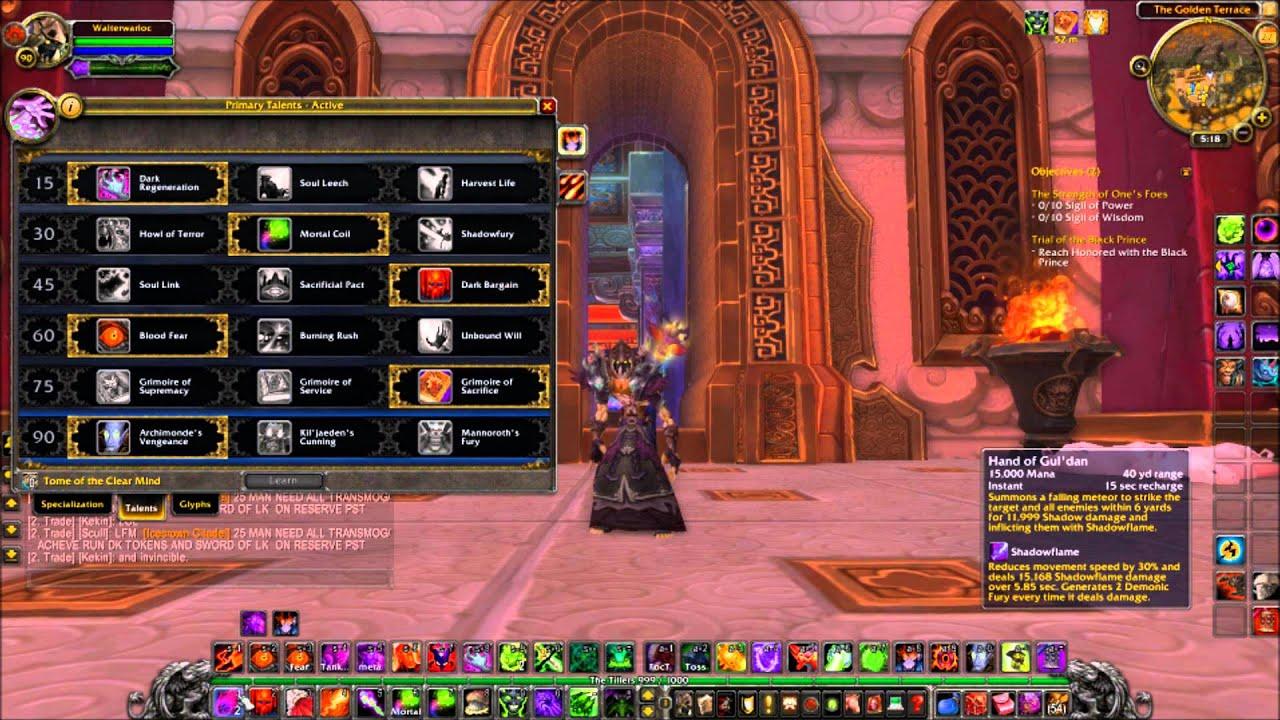 MoP  Demonology Warlock Guide Talents Glyphs Stats