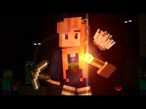 "♫ ""MINES BELOW"" ♫ - BEST MINECRAFT SONG - Top Minecraft Song / Minecraft Music"