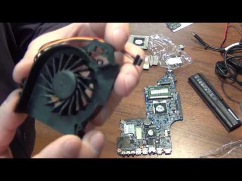 HP Pavilion dv6. Почему гремит ноутбук? Замена кулера.
