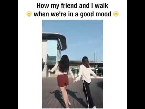 Good mood walk w/bff