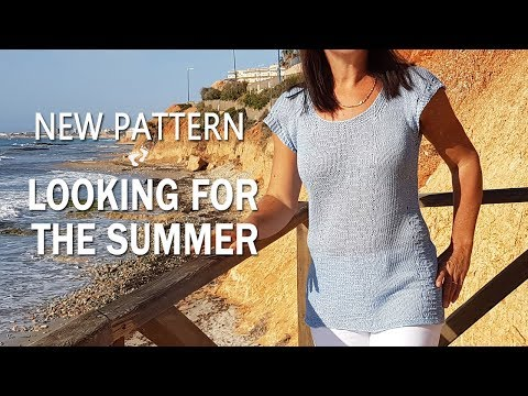 Bluzka na drutach/ Knitting pattern Looking For The Summer