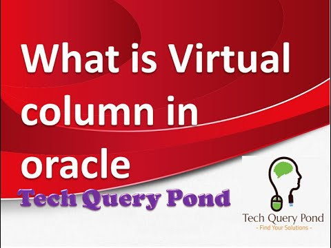 Oracle tutorial : What is Virtual column in Oracle PL SQL
