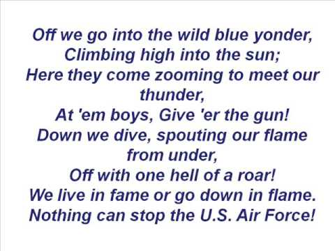 US Air Force Song  Off We Go