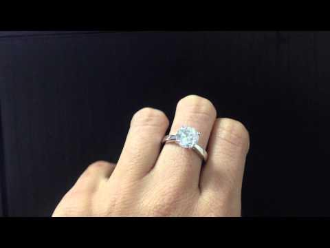 SOLITAIRE DIAMOND WEDDING RING 2.5 CT F SI2 ROUND BRILLIANT 14K WHITE GOLD