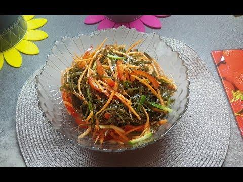 Салат из морской капусты с овощами \ Seaweed Salad With Vegetables