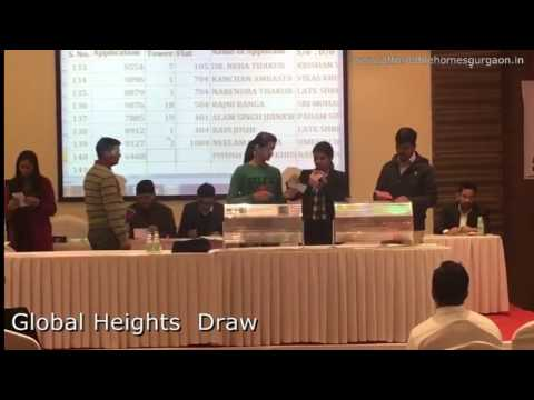 Global Heights Draw Result Video Affordable Housing Sector 33 Sohna