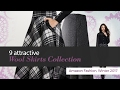 9 attractive Wool Skirts Collection Amazon Fashion, Winter 2017