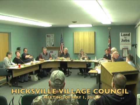 Hicksville Village Council Meeting 5-1-17