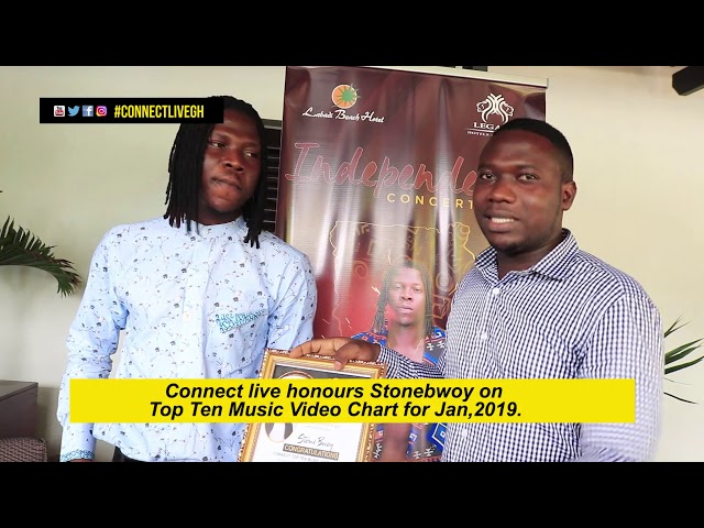 Stonebwoy Honoured with Connect Top Ten Award for the month of January 2019