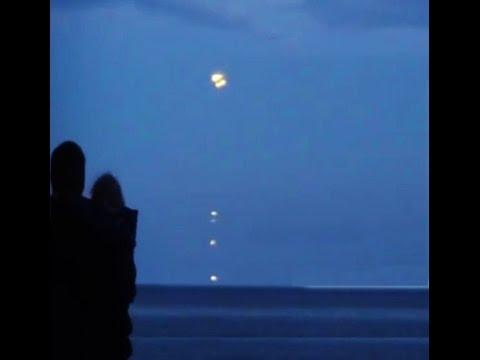 Best UFO Sighting Of September! Multiple UFOs Enter Baltic Sea Enhanced Footage! 2014