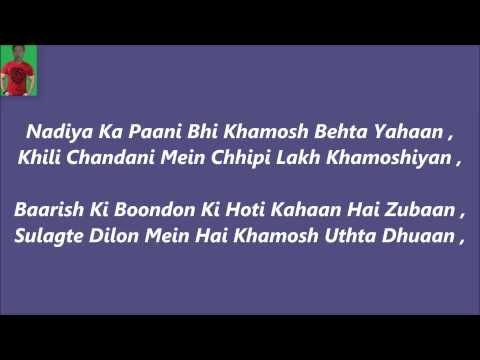 Khamoshiyaan Titel Song Karaoke With Lyrics