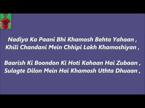Khamoshiyaan Titel Song Karaoke With Lyrics