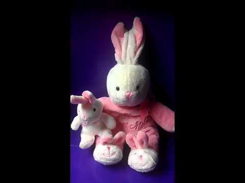 Dandy baby pink singing bunny jesus loves me plush