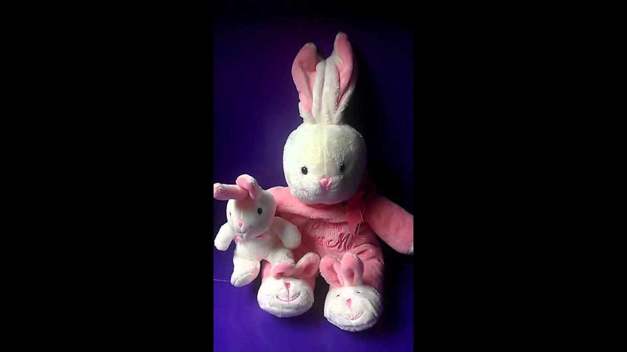 Dandy Baby Pink Singing Bunny Jesus Loves Me Plush Youtube