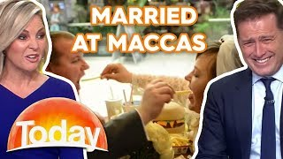 Couple get married at McDonalds | TODAY Show Australia
