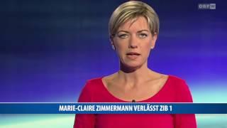 Marie-Claire Zimmermann verlässt ZIB1